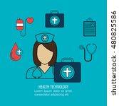 set nurse services medical... | Shutterstock .eps vector #480825586