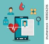 set online services medical... | Shutterstock .eps vector #480826246