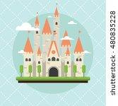 castle building flat design | Shutterstock .eps vector #480835228