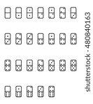 vector tile game pieces | Shutterstock .eps vector #480840163
