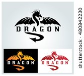 dragon logo design template ... | Shutterstock .eps vector #480842230