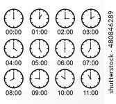 the clock shows the time. icon... | Shutterstock .eps vector #480846289