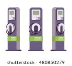 electric vechle charging... | Shutterstock .eps vector #480850279