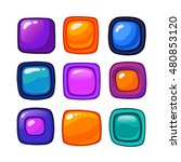 bright cartoon vector buttons...