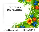 summer tropical hawaiian... | Shutterstock .eps vector #480861844