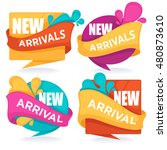 new arrivals  vector collection ... | Shutterstock .eps vector #480873610