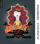 halloween party composed sign... | Shutterstock .eps vector #480880966