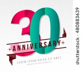 anniversary emblems 30... | Shutterstock .eps vector #480883639