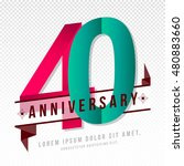 anniversary emblems 40... | Shutterstock .eps vector #480883660