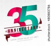 anniversary emblems 35... | Shutterstock .eps vector #480883786