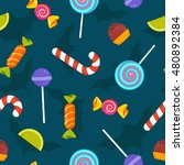 trick or treat halloween... | Shutterstock .eps vector #480892384