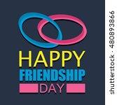 friendship day poster design... | Shutterstock .eps vector #480893866