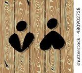 wc toilet icon vector... | Shutterstock .eps vector #480902728