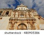 Colonial Style Church Facade I...