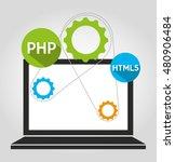 design language programming... | Shutterstock .eps vector #480906484