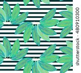 tropical seamless pattern with... | Shutterstock .eps vector #480910300