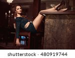 beauty young brunette woman