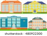 vector set of colorful school... | Shutterstock .eps vector #480922300