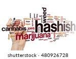hashish word cloud concept | Shutterstock . vector #480926728