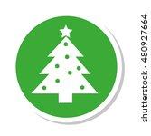 tree pine christmas icon vector ...   Shutterstock .eps vector #480927664