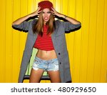 cool portrait with night flash... | Shutterstock . vector #480929650