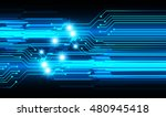 future technology  blue cyber... | Shutterstock .eps vector #480945418