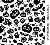 vector seamless pattern in... | Shutterstock .eps vector #480952576