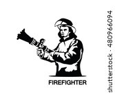 firefighter logo | Shutterstock .eps vector #480966094