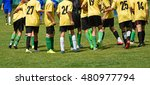 kid soccer team are happy after ... | Shutterstock . vector #480977794