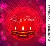 happy diwali illustration... | Shutterstock .eps vector #480986116