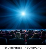 viewers watch blue star at... | Shutterstock . vector #480989140