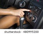 car interior. woman driving car. | Shutterstock . vector #480995200