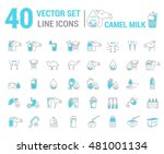 set vector icon graphic thin... | Shutterstock .eps vector #481001134