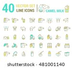 set vector icon graphic thin... | Shutterstock .eps vector #481001140