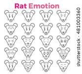 rat emotion | Shutterstock .eps vector #481003360