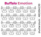 buffalo emotion | Shutterstock .eps vector #481006150