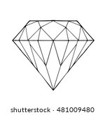 diamond vector on a white... | Shutterstock .eps vector #481009480
