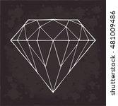 Diamond Vector On A Black...