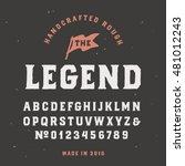 vintage handcrafted serif font... | Shutterstock .eps vector #481012243