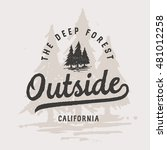 outside vintage lettering with...   Shutterstock .eps vector #481012258