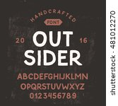 simple handcrafted sans serif... | Shutterstock .eps vector #481012270