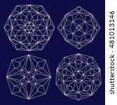vector  contour  illustration ... | Shutterstock .eps vector #481013146