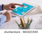 content management system...   Shutterstock . vector #481021540