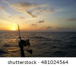 Fishing Road Silhouette During...