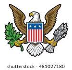 illustration of the american... | Shutterstock . vector #481027180