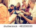 team collaboration meeting... | Shutterstock . vector #481030330