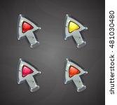 cartoon vector arrows cursors...