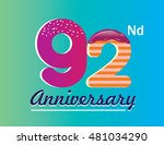 92nd anniversary logo with...