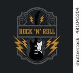 vintage rock and roll... | Shutterstock .eps vector #481045204