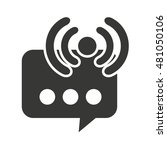 wifi waves signal with icon... | Shutterstock .eps vector #481050106